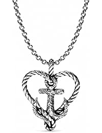 Amazon brighton necklaces pendants jewelry clothing anchored in love heart silver plated necklace aloadofball Gallery