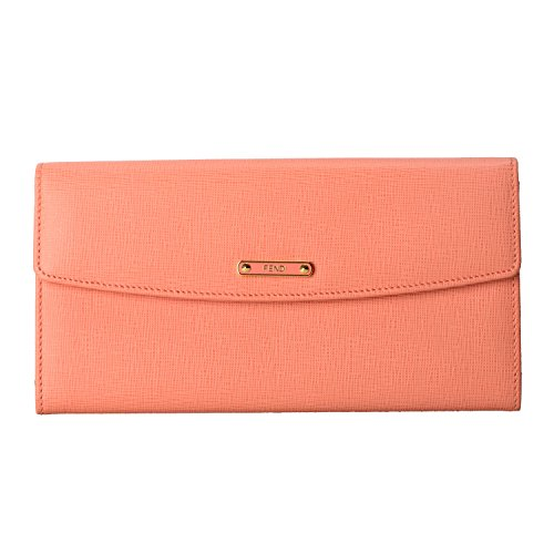 Fendi Women's Pink Saffiano Leather Continental Crayons Wallet ()
