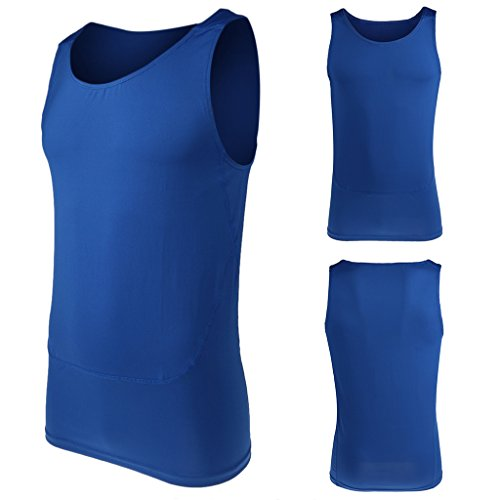 奇跡月面強調【ノーブランド品】 男女兼用 スポーツウェア ヨガ 体操 伸縮性 ノースリーブ シャツ ベスト 全3色6サイズ