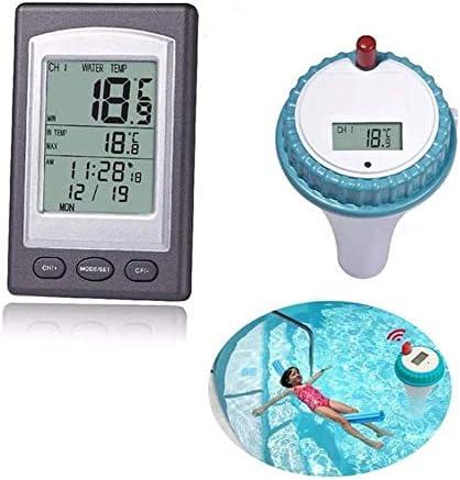 Rockyin Temperatura Digital Wireless Piscina Flotante del Agua del term/ómetro Gauge Piscina SPA Ba/ñera