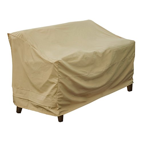 Sand Loveseat (Seasons Sentry CVP01431 Love Seat Bench Cover,)