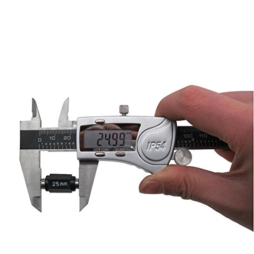 Digital Vernier Caliper IP54 Made of Hardened Stainless Steel Large LCD Screen-6''/150mm-Auto Off Provides Precision Measurement in Inches and Metric Easy to Read and Use by TWIDEC (Image #6)