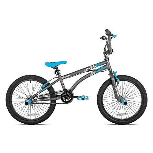 Kent X-Games FS20 Single Speed 20-Inch Wheel Freestyle Trick BMX Bike, Dark Grey