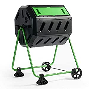 Hot Frog Mobile Dual-Chamber Compost Tumbler