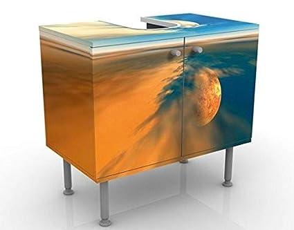 Apalis Waschbeckenunterschrank Fantasy 60x55x35cm Design Waschtisch, Größe:55cm x 60cm