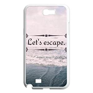 Let's Escape Design Discount Personalized Hard Case Cover for Samsung Galaxy Note 2 N7100, Let's Escape Galaxy Note 2 N7100 Cover Kimberly Kurzendoerfer