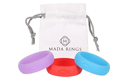 Rings Mada Hypoallergenic Medical Grade Silicone Purple