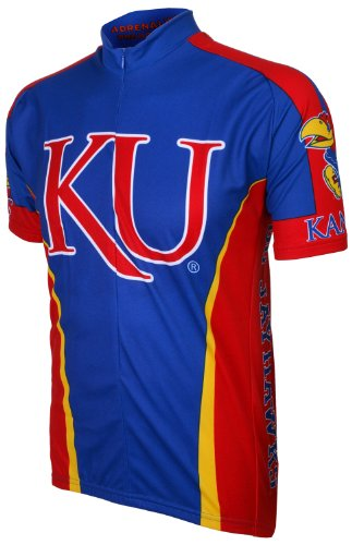 Kansas Bike Jersey - NCAA Kansas Cycling Jersey, Small,Red/Blue