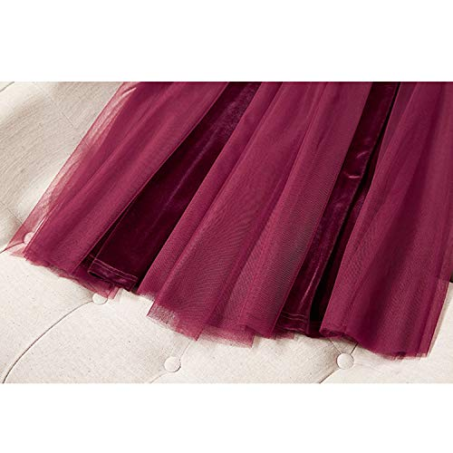 Estate Abito Lunga Sera Chic Ed Tulle Xcxdx In Donna Red Per Party Gonna Primavera Da Tutu wPq5B8x5