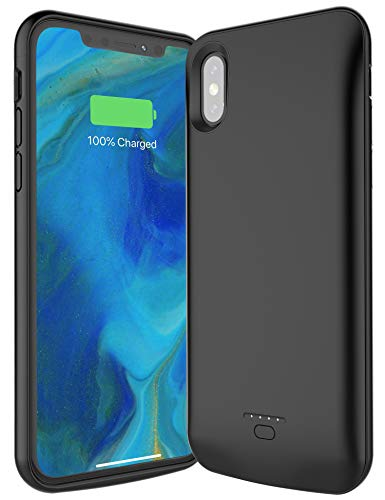 TREEZITEK Battery Case for iPhone X/Xs,4000mAh Portable Protective Charging Case Extended Rechargeable Battery Pack Charger Case Compatible with iPhone 10