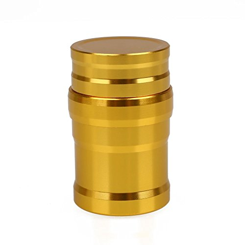 LANYUER Portable Metal Alcohol Lamp Lab Equipment Heating Liquid Stoves For Outdoor survival Camping Hiking (without alcohol) (Gold)