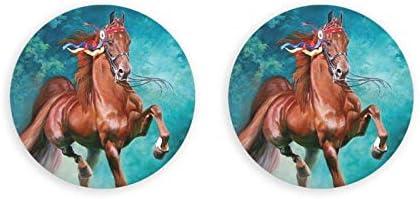 Abridores de botellas redondos de caballo / Imanes de nevera Sacacorchos de acero inoxidable Etiqueta magnética 2 piezas