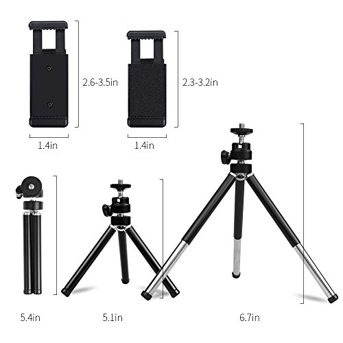 Large Product Image of Lightweight Mini Webcam Tripod for Logitech Webcam C920 C922 Small Camera Tripod Mount Cell Phone Holder Stand (Black)