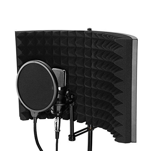 Sndy Foldable調節可能な携帯用音の吸収の盾の声の録音のパネルの防音の泡