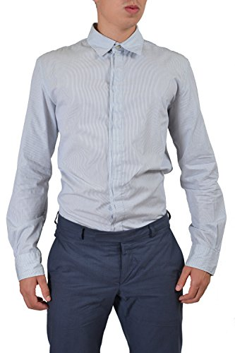 Armani Jeans Men's Multi-Color Striped Long Sleeve Casual Shirt US L IT ()