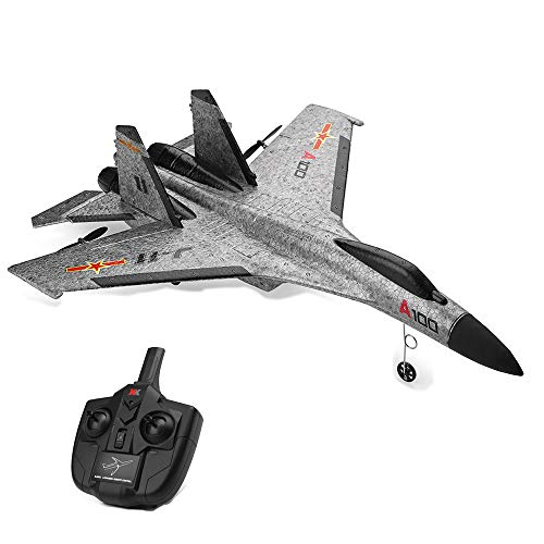 Wotryit WLtoys A100 SU-27 3CH 2.4G RC Airplane RTF Glider EPP Composite Material 14+ Vertical Take Off Land Delta Wing RC Flying Aircraft Toys RC Glider Indoors & Outdoors_Small Remote