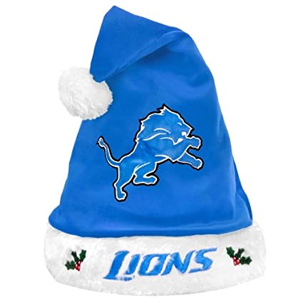 80a2d1061b7a4a Amazon.com : NFL Santa Hat NFL Team: Detroit Lions : Sports Fan ...