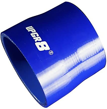 Upgr8 Universal 4-Ply High Performance Straight Reducer Coupler Silicone Hose to 2.0 , Blue 51MM 1.5 38MM