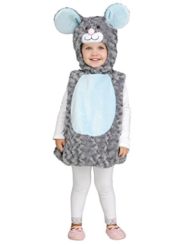 Fun World Little Girl's Lrg/li'l Gray Mouse Tdlr