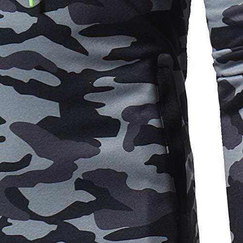Sport Teddy Basic Capeau Casual Manteau Gris2 Vest Camouflage Sweat Sanfashion A Blouse Homme aBYXXq