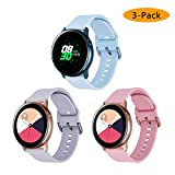 Koreda Compatible Samsung Galaxy Watch Active Bands/Galaxy Watch 42mm/Gear Sport Bands Sets, Silicone Strap Replacement Wristband with Stainless Steel Buckle Compatible Galaxy Watch Active 40mm R500