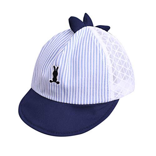 Tantisy ♣↭♣ Kids Cartoon Striped Duck Tongue Hat/Breathable Mesh/Outdoor Sun Protection Hat/Baseball Caps Black
