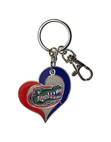 aminco NCAA Florida Gators Swirl Heart Keychain ()