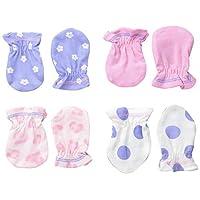 Gerber Baby Girls Apparel - 0 - 3 Months - Leopard, 4 Pack
