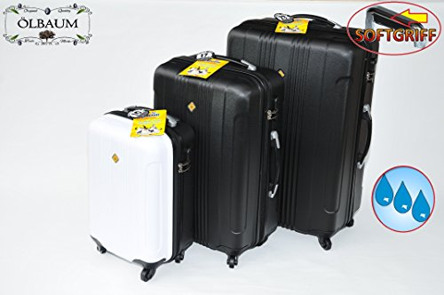 3 Piece Suitcase Luggage Set, Spacious Business Cabin Case - Black Hard Case Hardcase Set Waterproof Case Pilot Case, Dimensions: Approximately 80 cm/Width Approx. 50 cm/Depth approx. 30 cm approx. 70 x 45X 25/Approx. 50 x 35 x 22