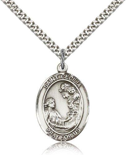 Cecilia Pendant Sterling Silver St 24 Chain
