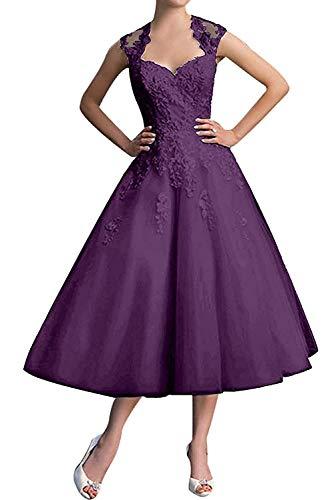 Braut Linie Ballkleider Partykleider Kurz A La Wadenlang Abschlussballkleider Abendkleider Traube mia Elegant Spitze 6HqxzY