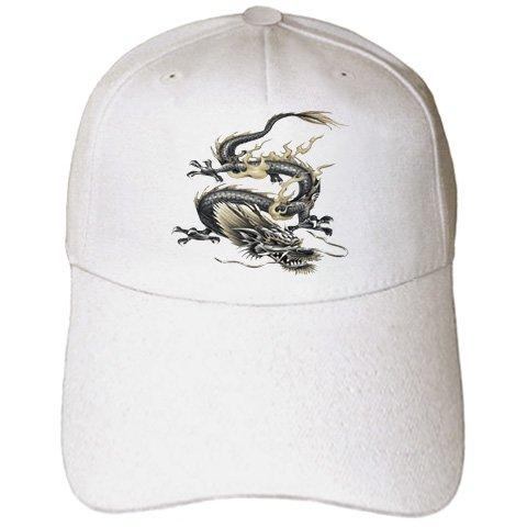 Taiche - Acrylic Painting - Metallic Dragon - Chinese Dragon- chinese dragon, metallic dragon, dragon,creature, yang, chinese new year - Caps - Adult Baseball Cap (New Year Caps)