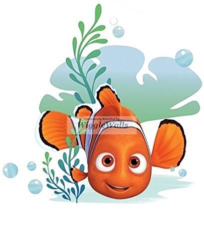 6 Inch Clownfish Clown Fish Finding Dory Nemo 2 Movie Removable Peel Self Stick Adhesive Vinyl Decorative Wall Decal Sticker Art Kids Room Home Decor Boys Children Nursery Baby 6x6 inches - Clown Fish Wall
