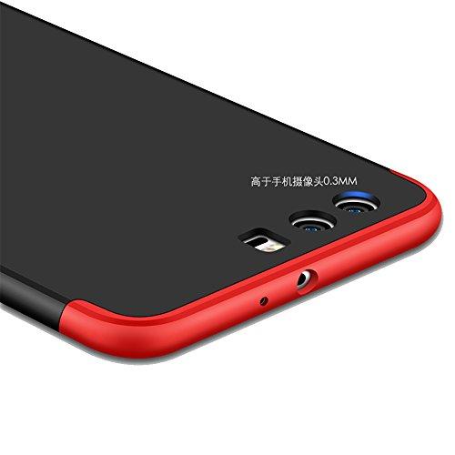 Funda Huawei Nova 2, Huawei Nova 2 Funda Case, PLECUPE la moda Ultra Thin Desmontable 3 en 1 Dura PC Plástico Case Cárcasa Caja Cover, Ultra Delgado Fino 360 Grados Integral Cobertura Completa Anti Ra Azul oscuro