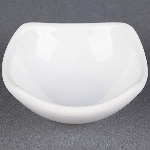 American Metalcraft SQSC40 Squound 4 oz. White Ceramic Sauce Cup