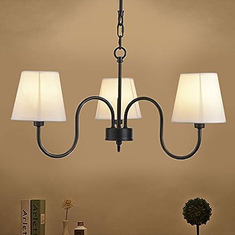 Amazon.com: Negro Hierro forjado lámpara de araña con tonos ...