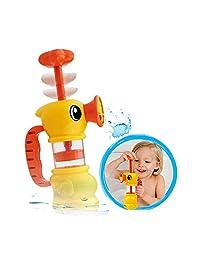 Little Duck Cute Bath Toys Bathing Water Manual Pumping Water Spray Bather Toy Swimming Pool Bathtub Toy