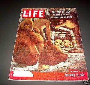 Life Magazine - Vol. 39, No. 24, December 12, 1955 Neanderthal Bear Cult on - Plaza Granite