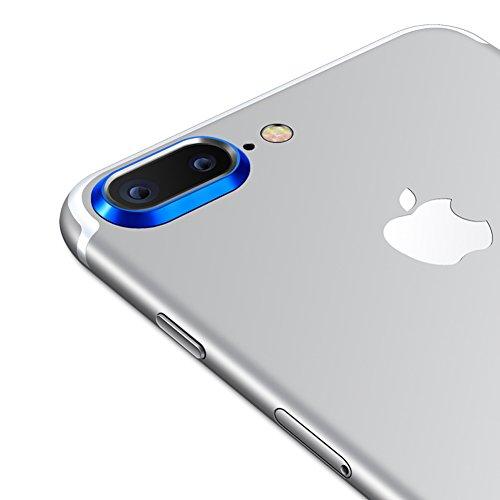 Sakula Camera Lens Protector Plating Aluminum for iPhone 7 Plus iPhone 8 Plus Cameral Case Cover Ring Blue