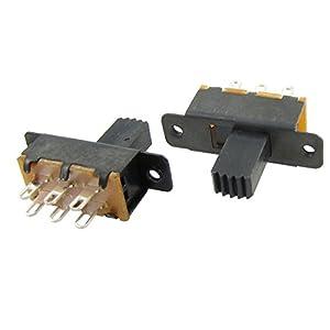 10 Pcs Ss22F25-G7 2 Position Dpdt 2P2T Panel Mount Slide Switch