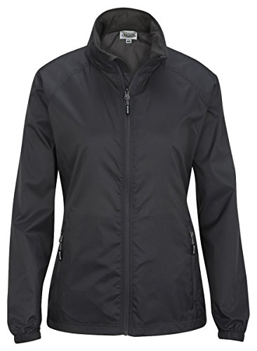 Edwards Garment Women's Hooded Rain Jacket, Steel Grey, Small - Grey Steel Rain Jacket