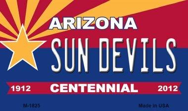 (Sun Devils Arizona Centennial State License Plate Magnet M-1825 Mini Licence Plate Magnet)