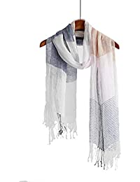 22973834683023 Lightweight Summer Scarf Shawl Wrap Linen Feel Scarves For Men And Women