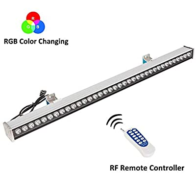 RSN LED Wall Washer Light,108W RGB Color Changing with RF Remote Controller,3.28ft/39.4inches Length, LED RGB Strip Light for Decorating Indoor and Outdoor