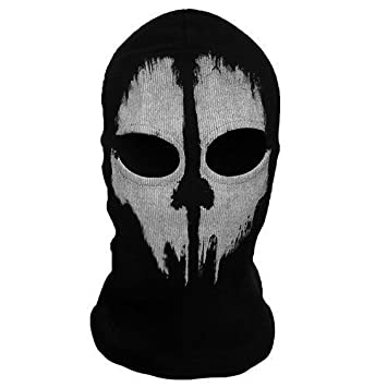 SCARY GHOST 2 Hole Wool Zorro Ninja  Fancy Dress Costume 1 Size Senior  sc 1 st  Amazon UK : skull ninja costume  - Germanpascual.Com