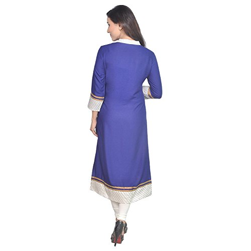 Chichi Indian Women's Embroidered Rayon Kurti Top