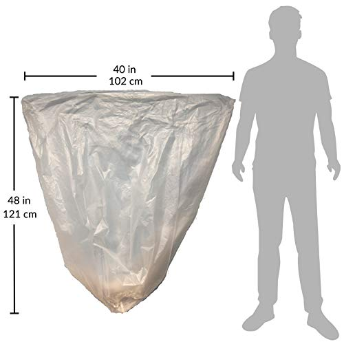 Reli. Trash Bags, 40-45 Gallon (250 Count) (Clear) - Regular Thickness - Easy Grab Rolls - Can Liners, Garbage Bags with 40 Gallon (40 Gal) to 45 Gallon (45 Gal) Capacity by Reli. (Image #5)