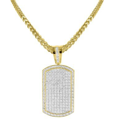 Yellow gold finish lab diamond mens iced out dog tag pendant steel yellow gold finish lab diamond mens iced out dog tag pendant steel franco chain aloadofball Choice Image