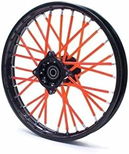 Spoke Skins - Cubre radios para bici dirt bike, pit bike o moto mini, color rojo: Amazon.es: Juguetes y juegos