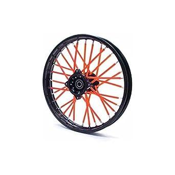 Spoke Skins - Cubre radios para bici dirt bike, pit bike o moto mini, color rojo: Amazon.es: Juguetes y juegos